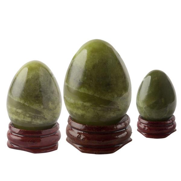 Green Jade set of three yoni eggs - Sayoni Care