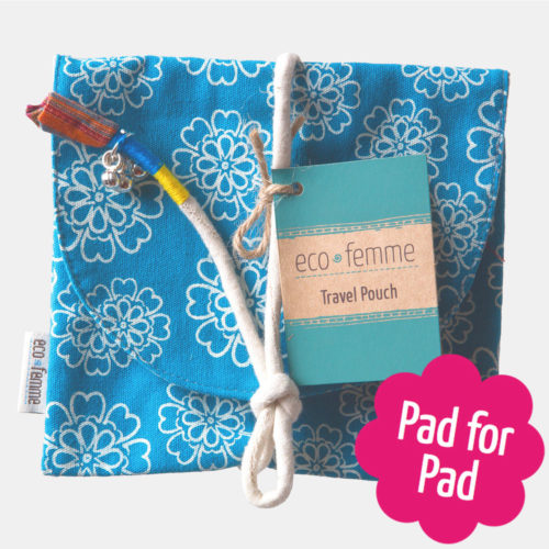 Eco menstrual cotton travel pouch - Sayoni Care