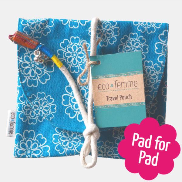 Eco menstrual cotton travel pouch - Sayoni Care
